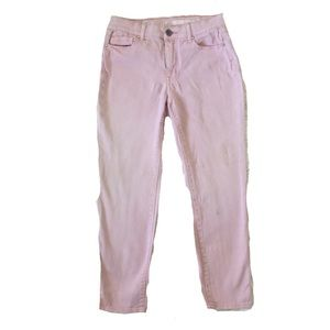 Dkny Jeans - DKNY High Waist Houston Taper Cropped Pink Jeans
